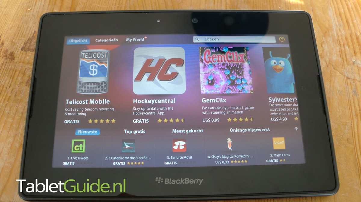 BlackBerry Playbook Appworld - TabletGuide.nl