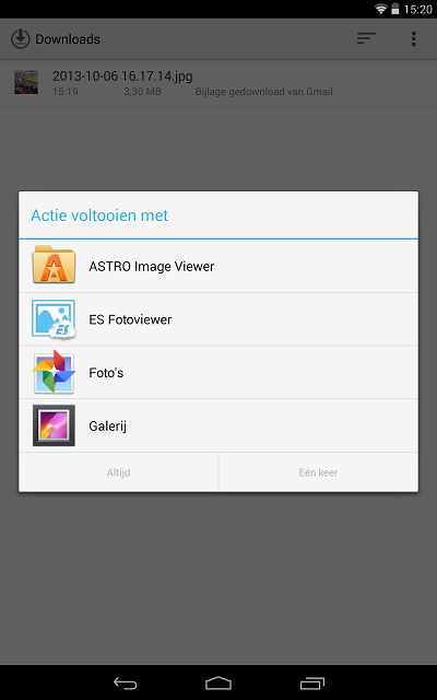 Vanaf Android 4.2