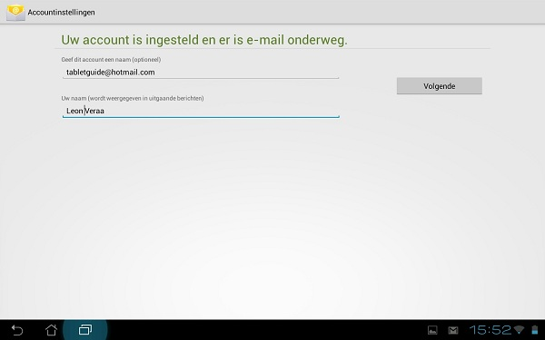 Standaard e-mail app Android - Email instellen (6)