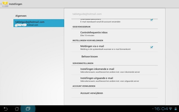 Instellingen e-mail Android tablet (1)