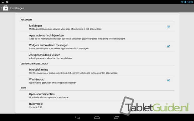 Notificaties meldingen Play Store uitschakelen