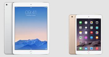 iPad Air 2 en iPad Mini 3