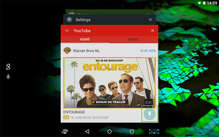 Screen pinning in Android Lollipop