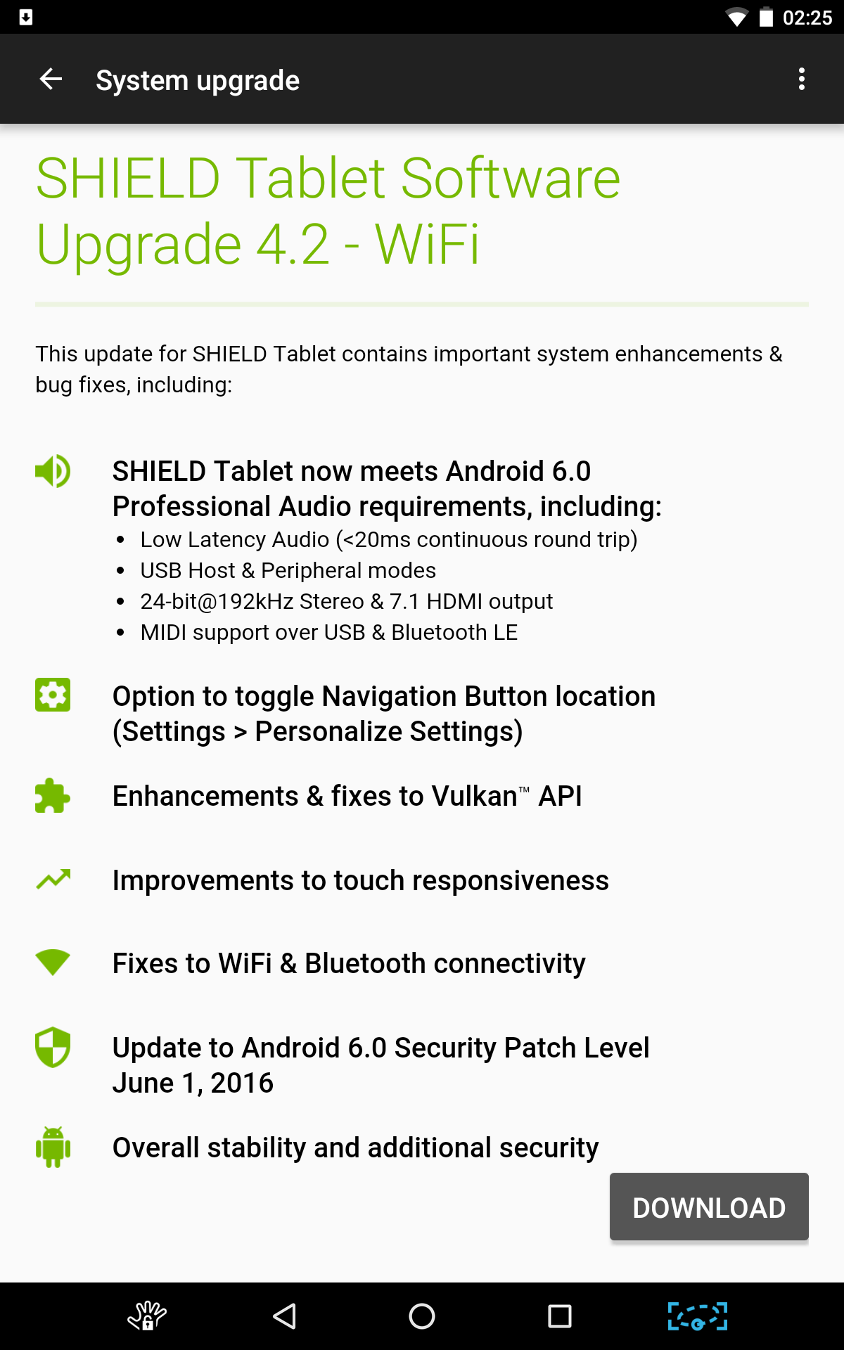 NVIDIA Shield Tablet update v4.2