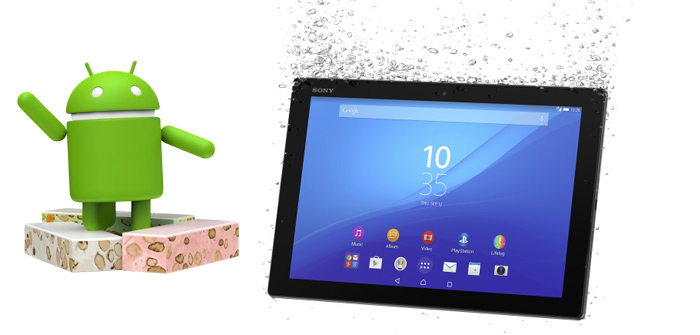 Sony Xperia Z4 Tablet krijgt Android Nougat